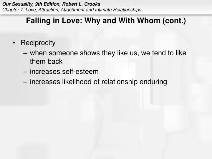 Falling in Love: Why and With Whom (cont.)