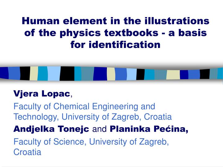 Human element in the illustrations of the physics textbooks a basis for identification