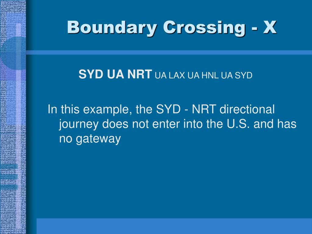 Boundary Crossing - X