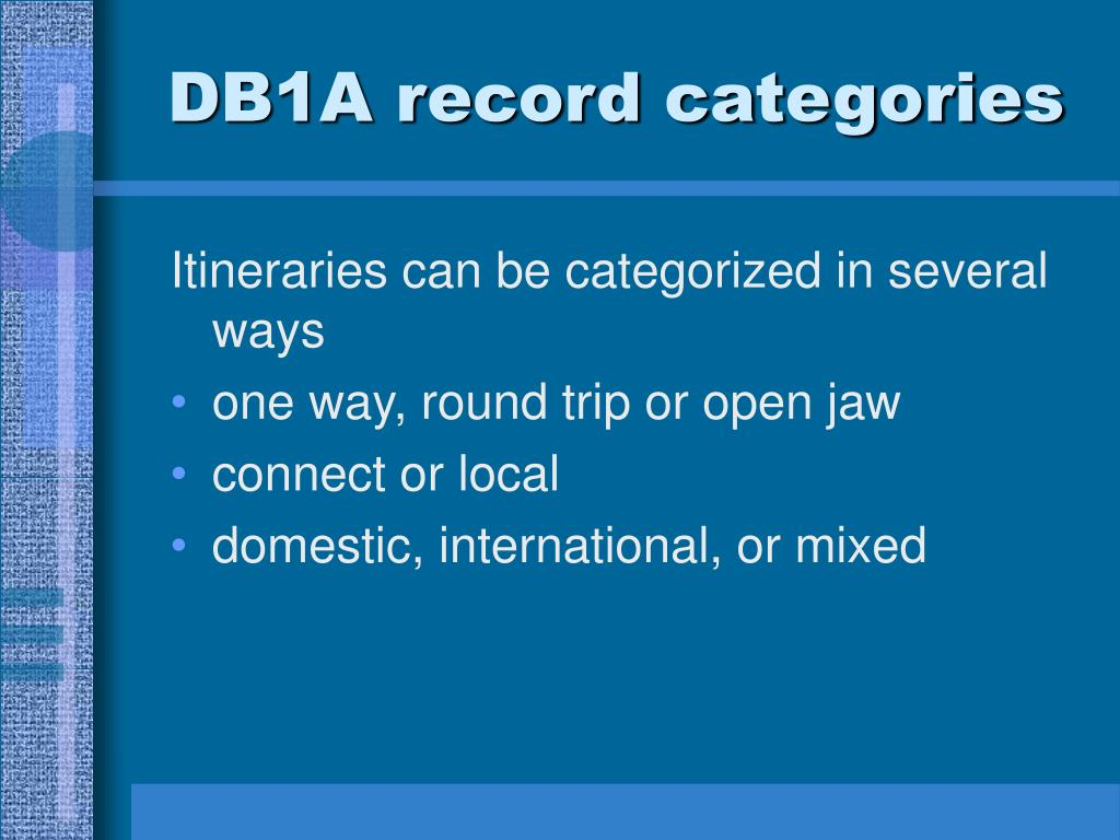 DB1A record categories