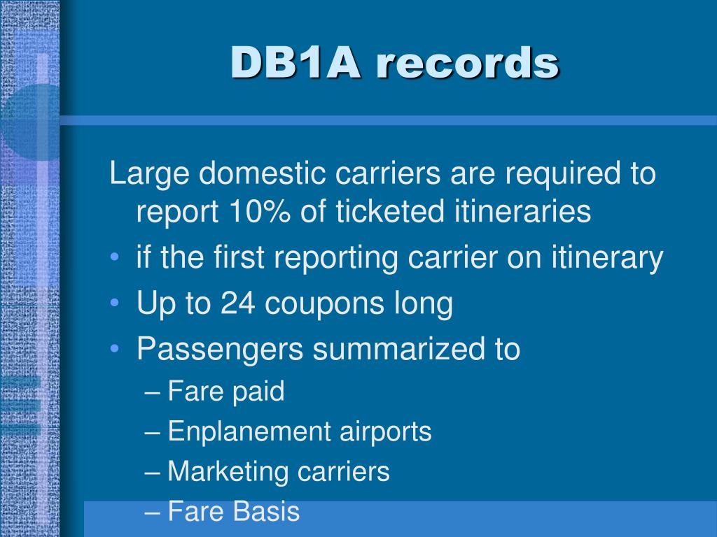 DB1A records
