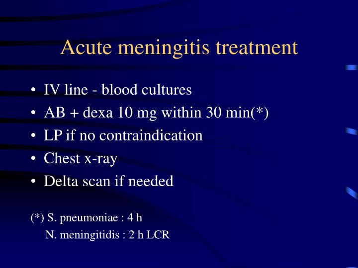 Acute meningitis treatment
