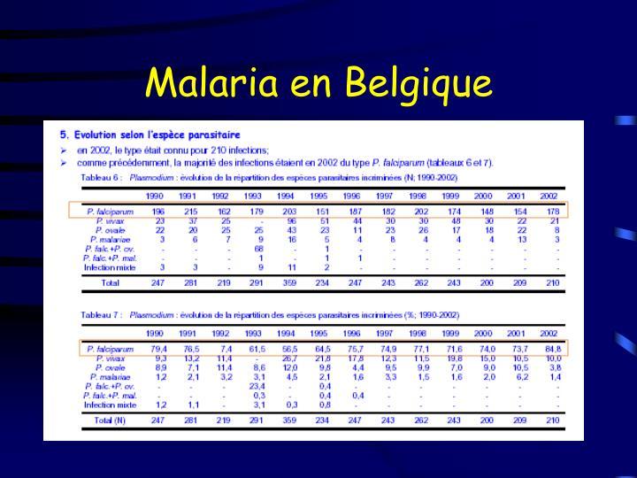 Malaria en Belgique