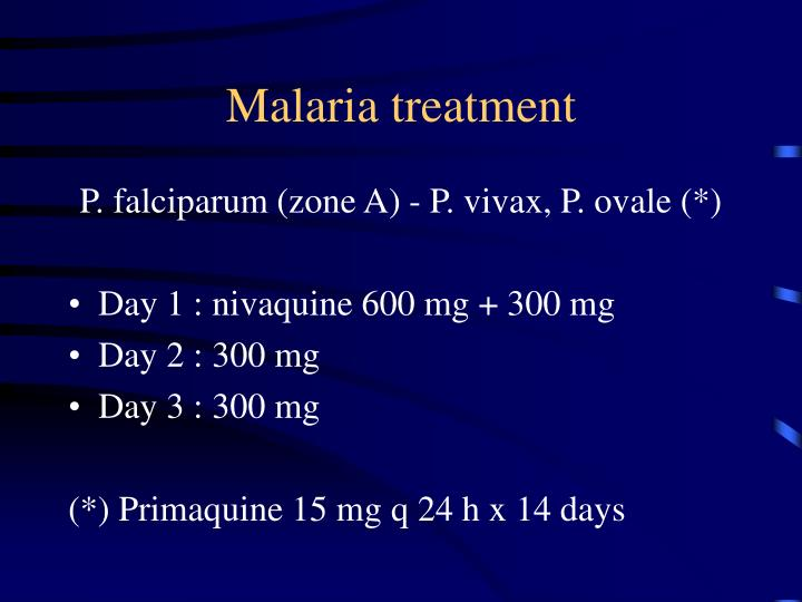 Malaria treatment