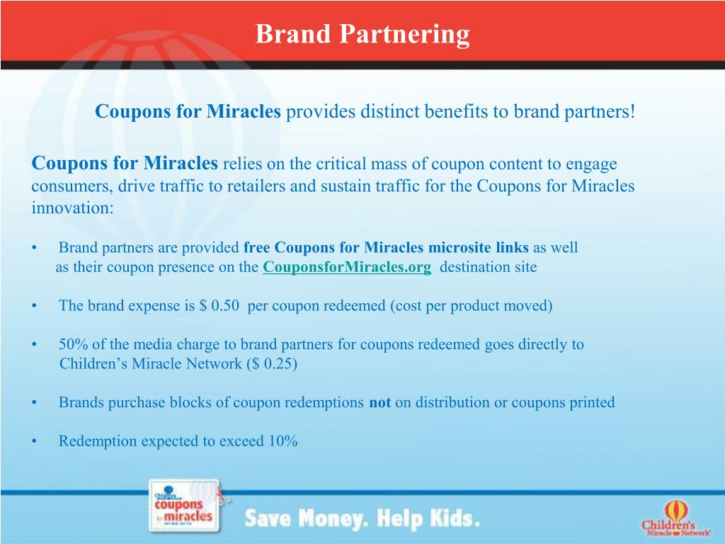 Coupons for Miracles