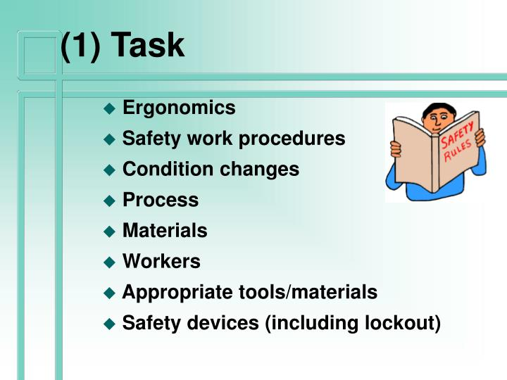 (1) Task