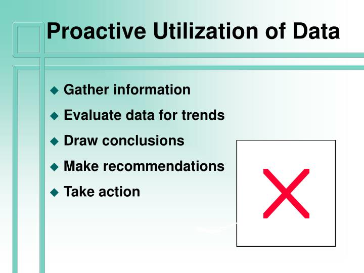 Proactive Utilization of Data