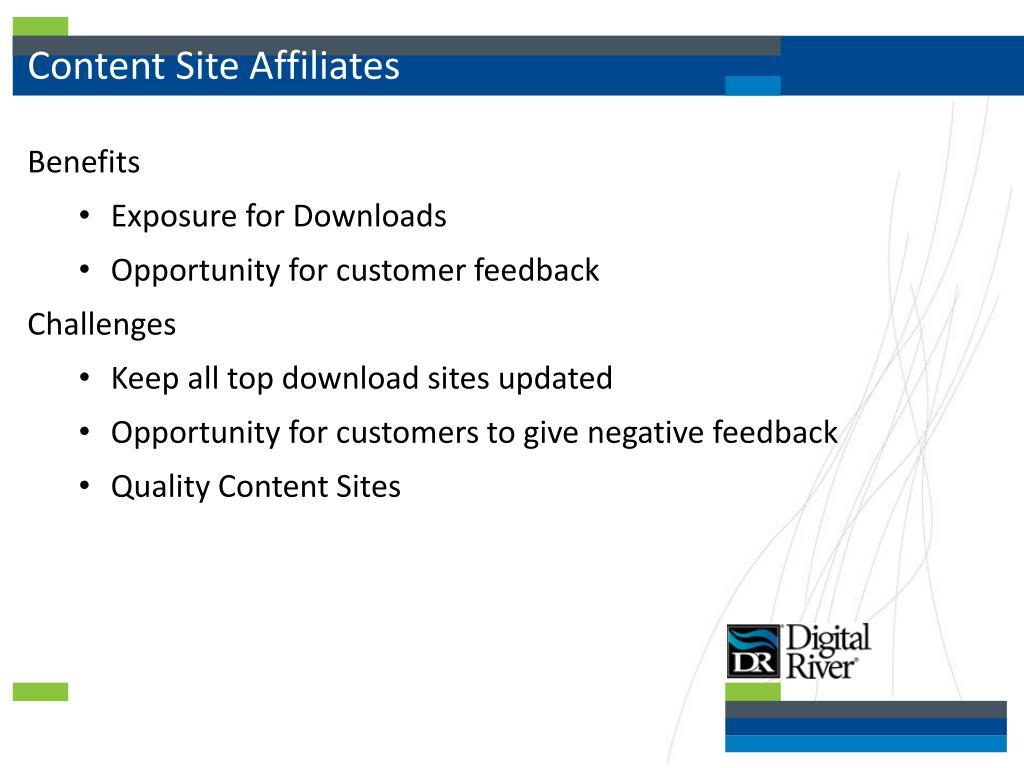 Content Site Affiliates