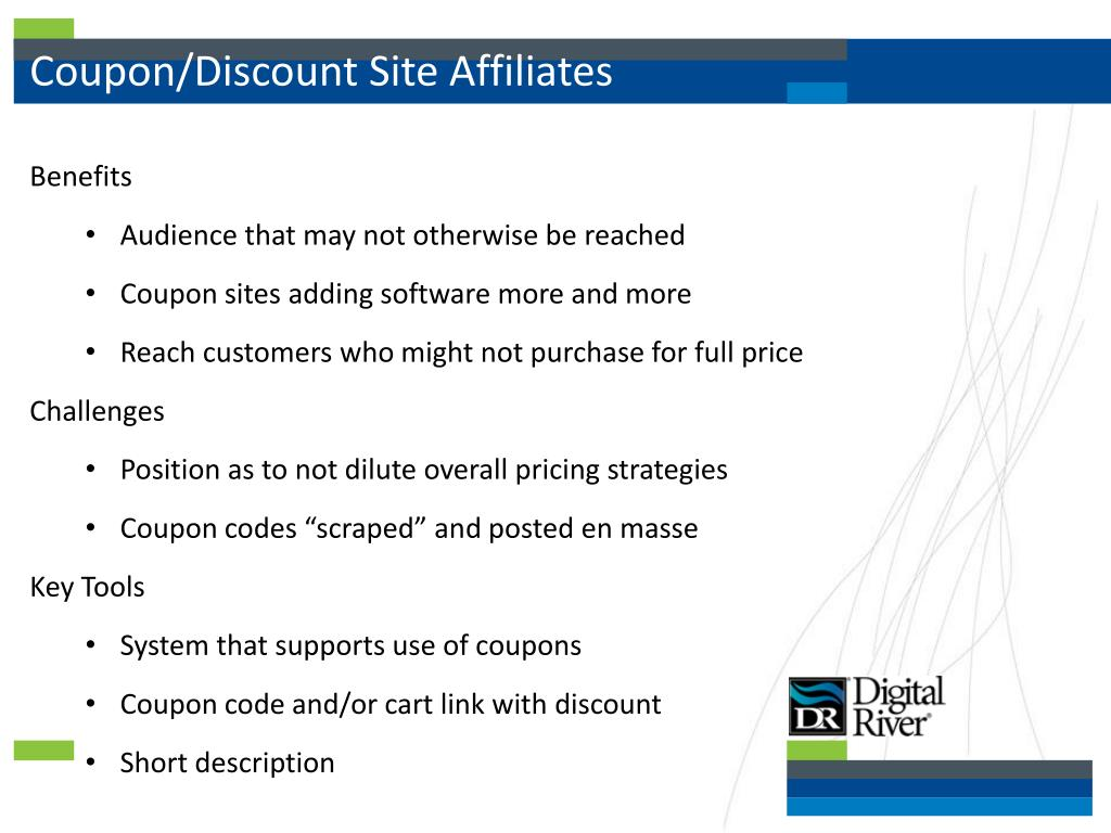 Coupon/Discount Site Affiliates