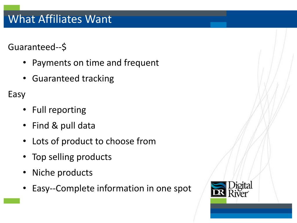 What Affiliates Want