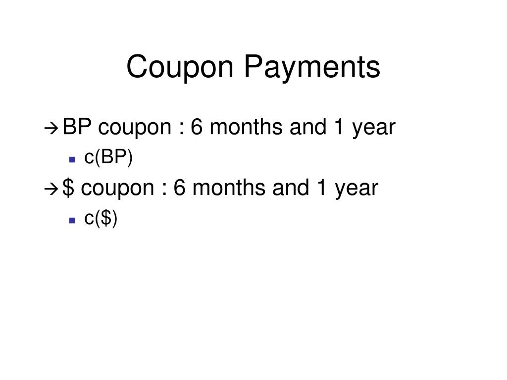 Coupon Payments