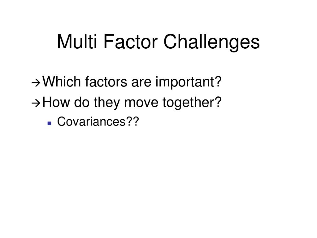 Multi Factor Challenges