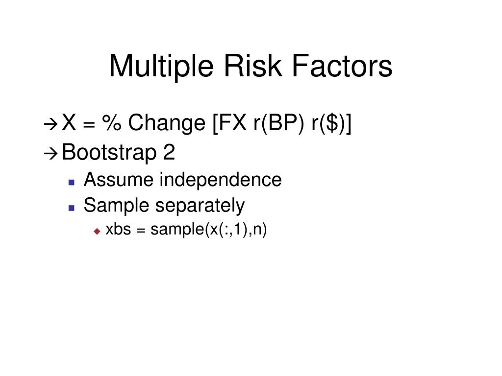 Multiple Risk Factors