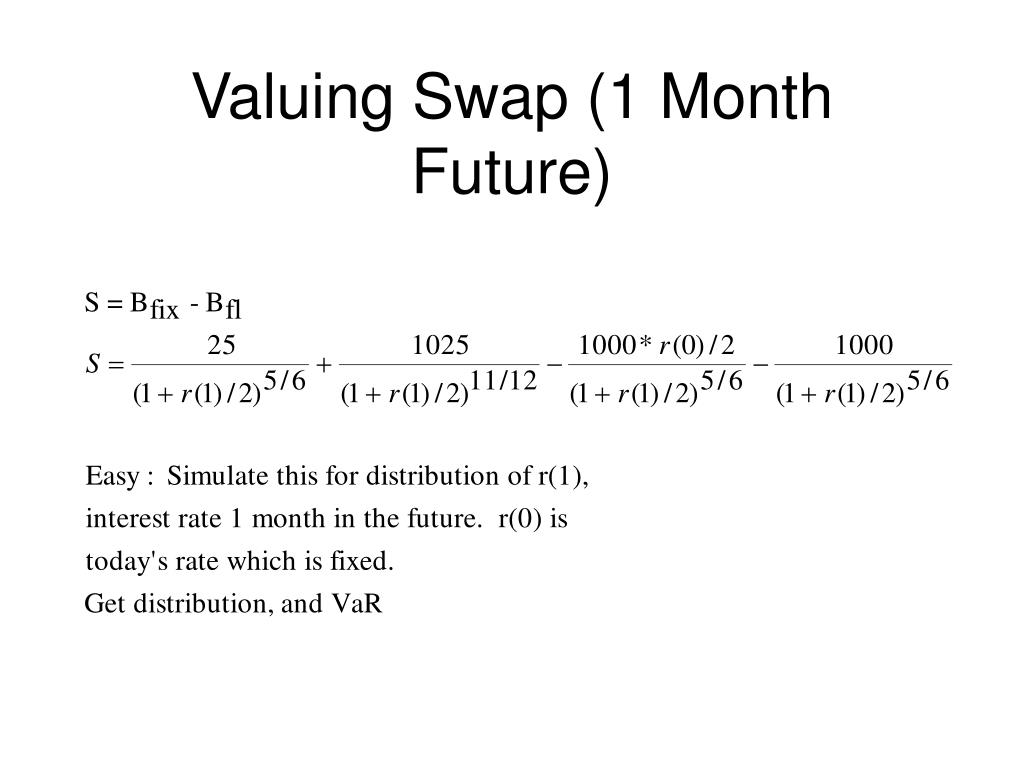 Valuing Swap (1 Month Future)