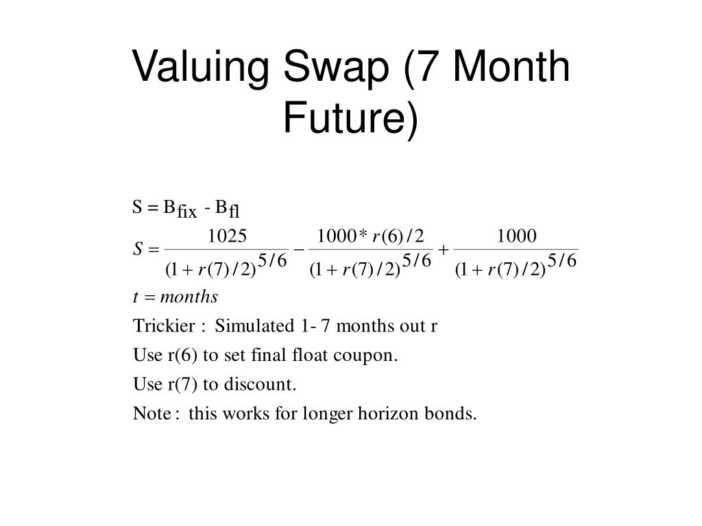 Valuing Swap (7 Month Future)