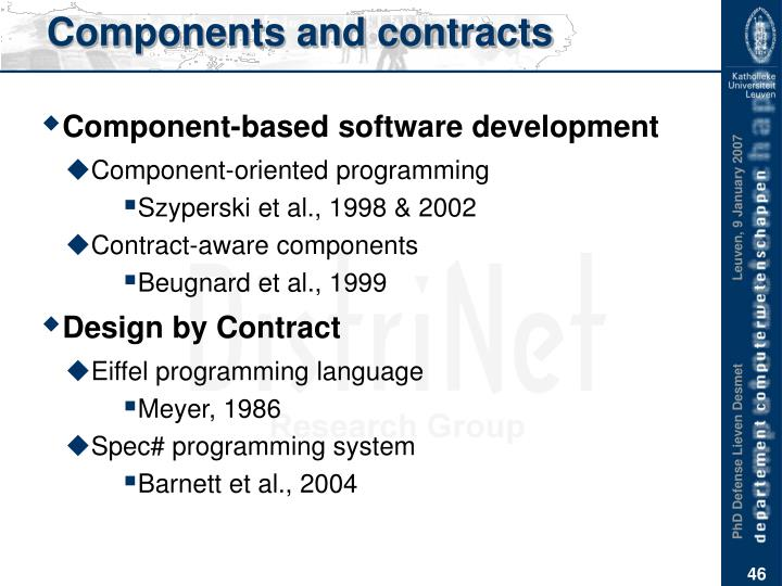 Components and contracts