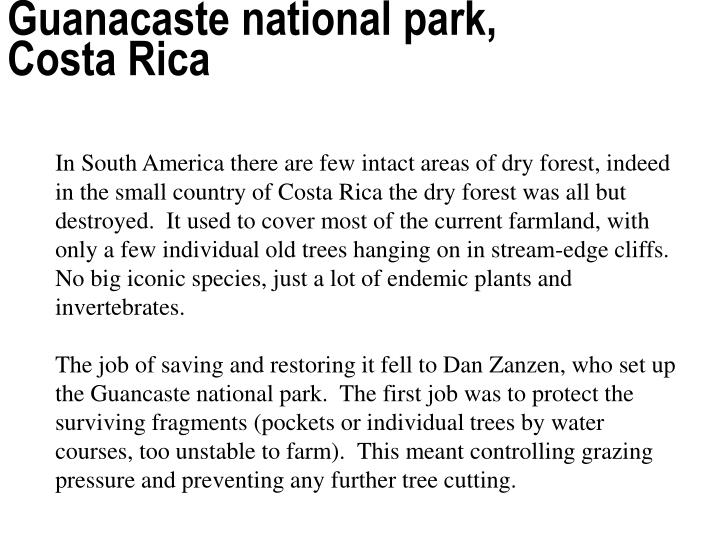 Guanacaste national park, Costa Rica