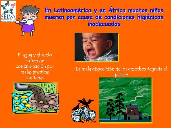 En Latinoamérica y en África muchos niños