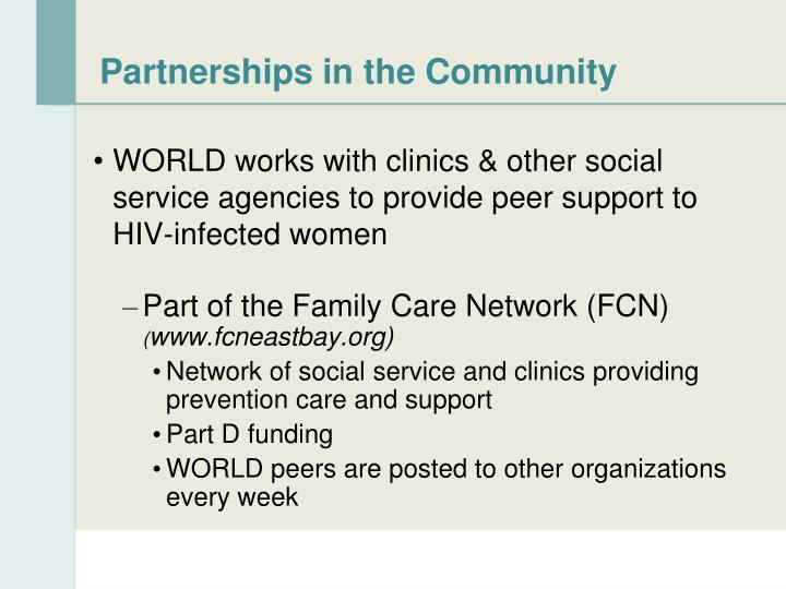 Partnerships in the Community