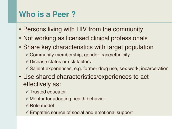 Who is a Peer ?