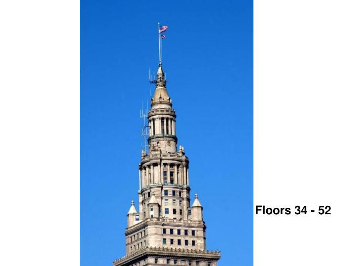 Floors 34 - 52