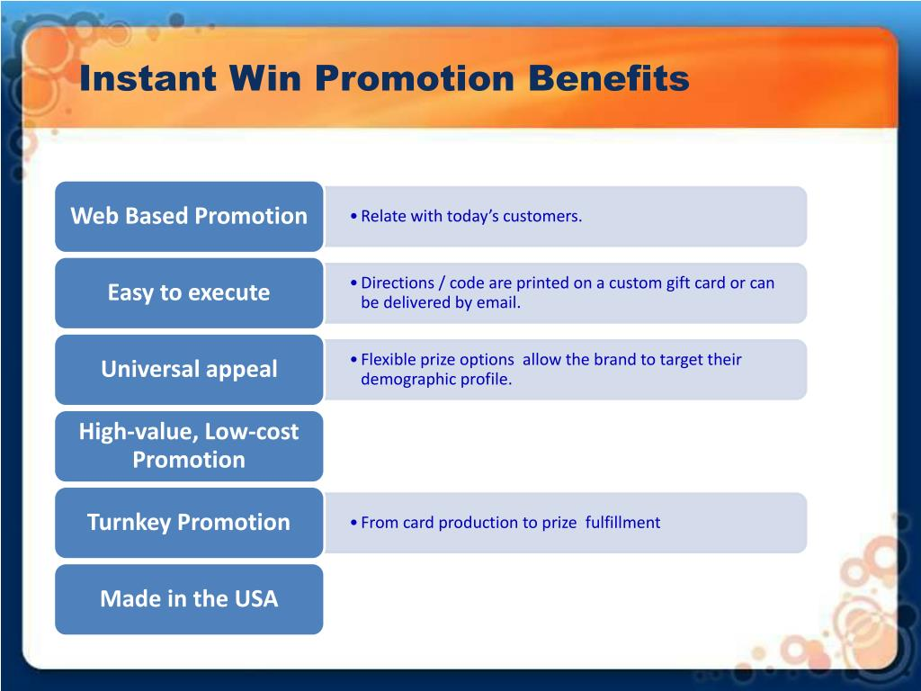 Instant Win Promotion Benefits