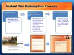 instant win redemption process
