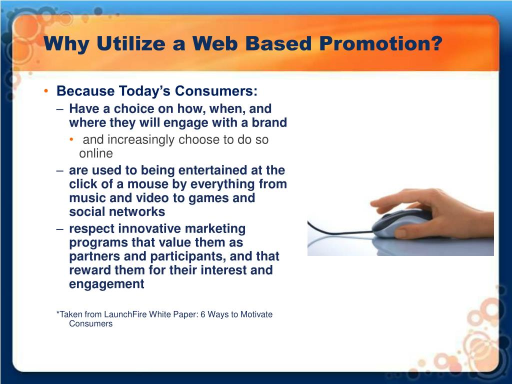 Why Utilize a Web Based Promotion?