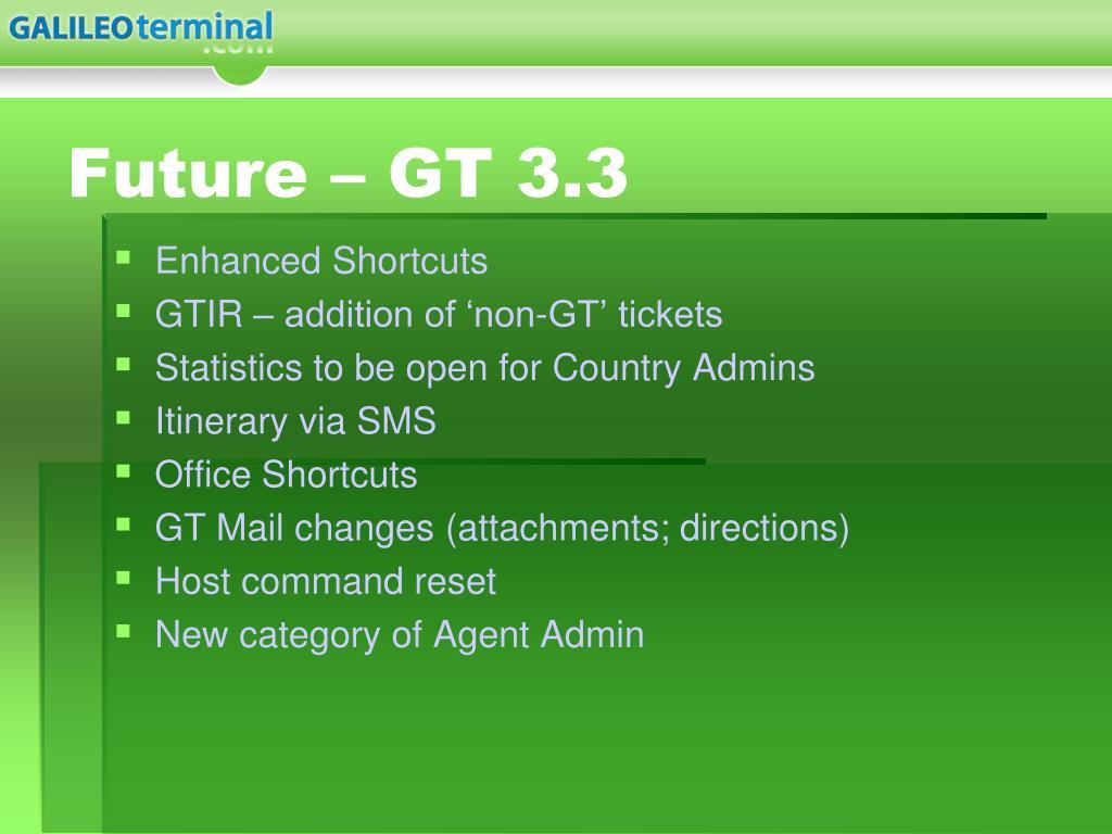Future – GT 3.3