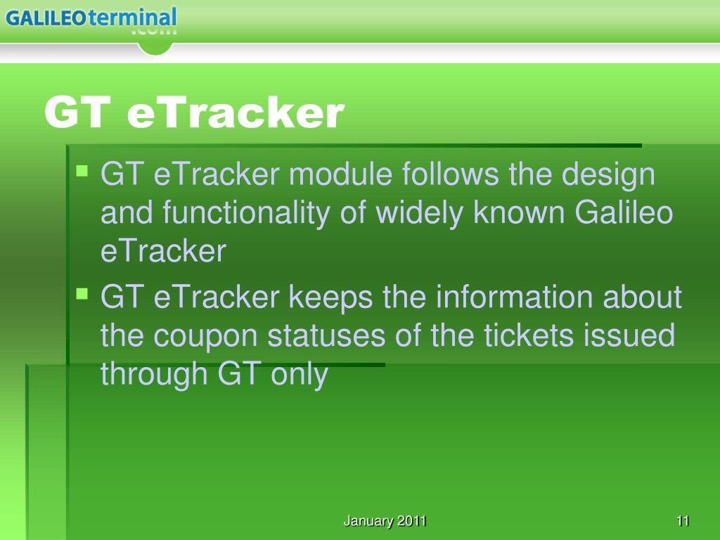 GT eTracker