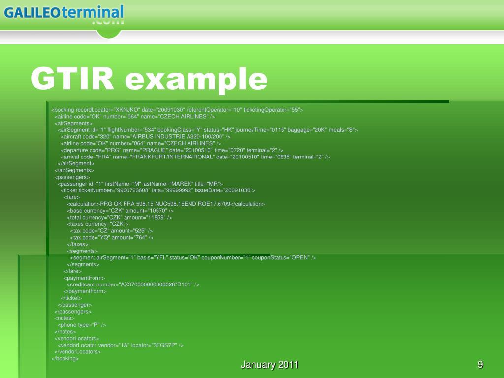 GTIR example