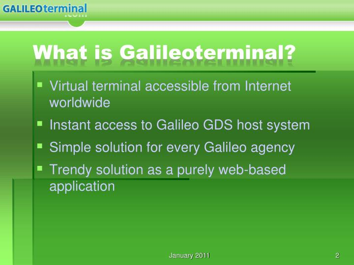What is galileoterminal