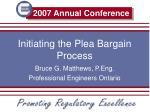 initiating the plea bargain process