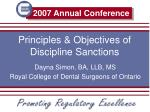 principles objectives of discipline sanctions
