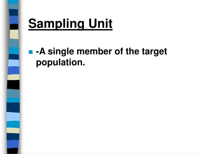 Sampling Unit