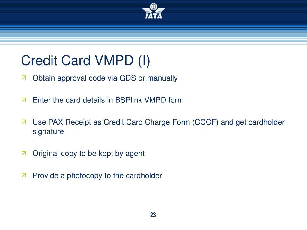 Credit Card VMPD (I)