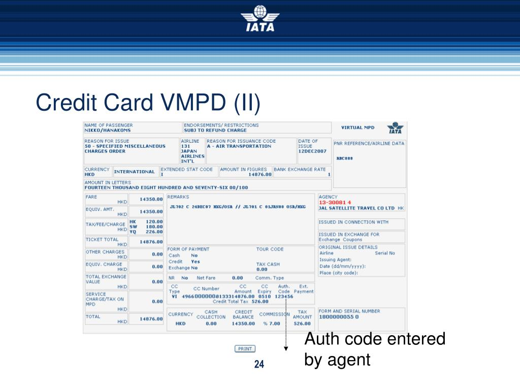 Credit Card VMPD (II)