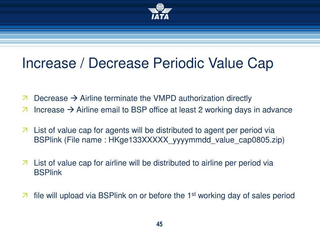 Increase / Decrease Periodic Value Cap