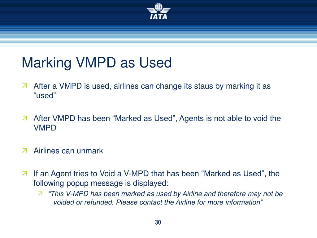 Marking VMPD as Used