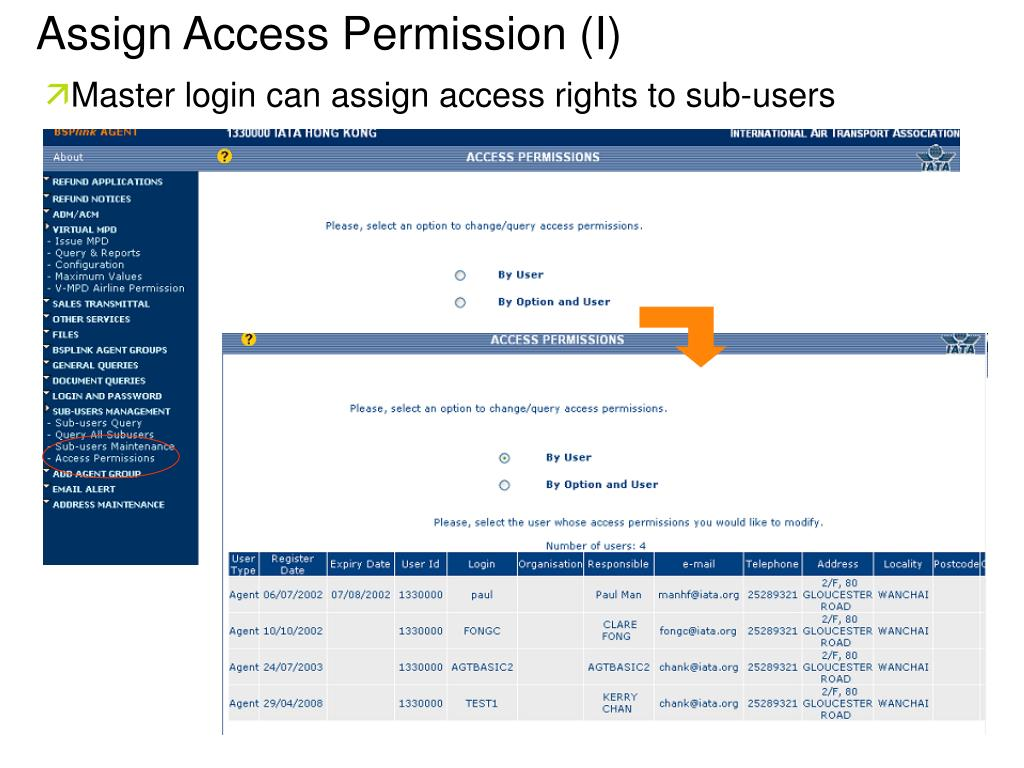 Assign Access Permission (I)