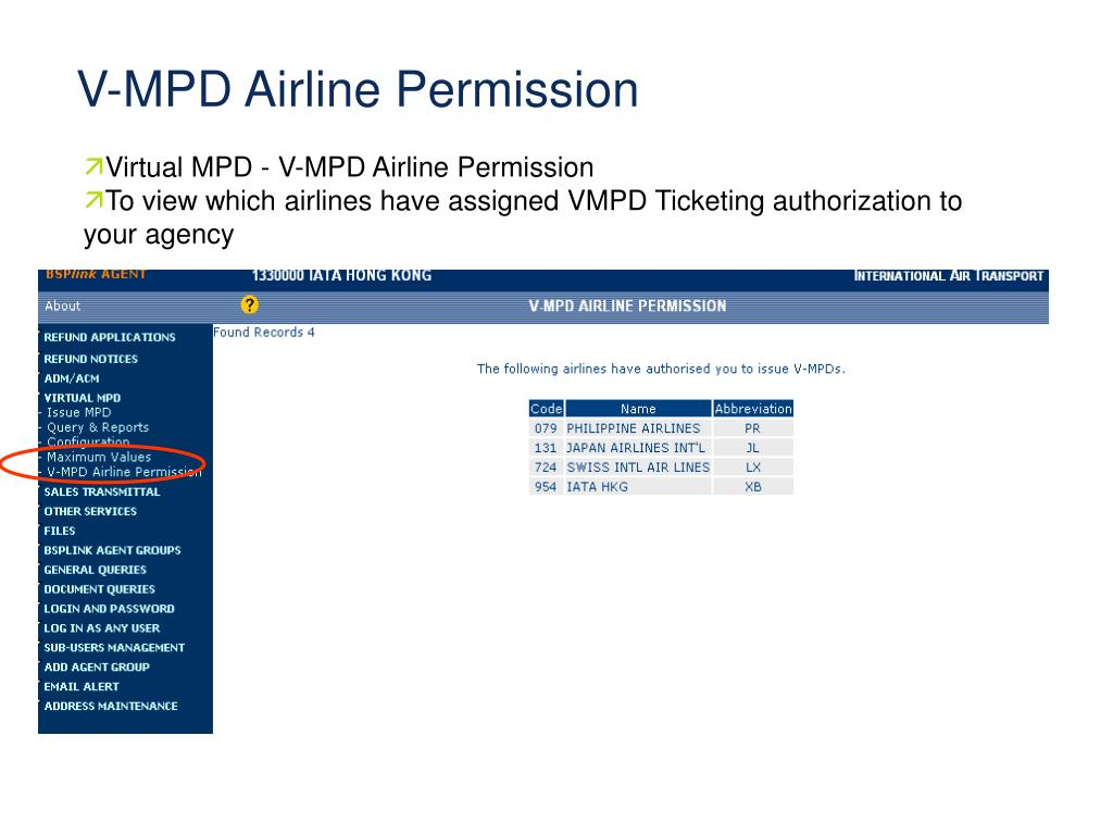 Virtual MPD -