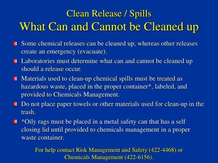 Clean Release / Spills