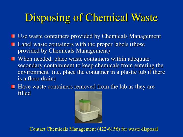 Disposing of Chemical Waste