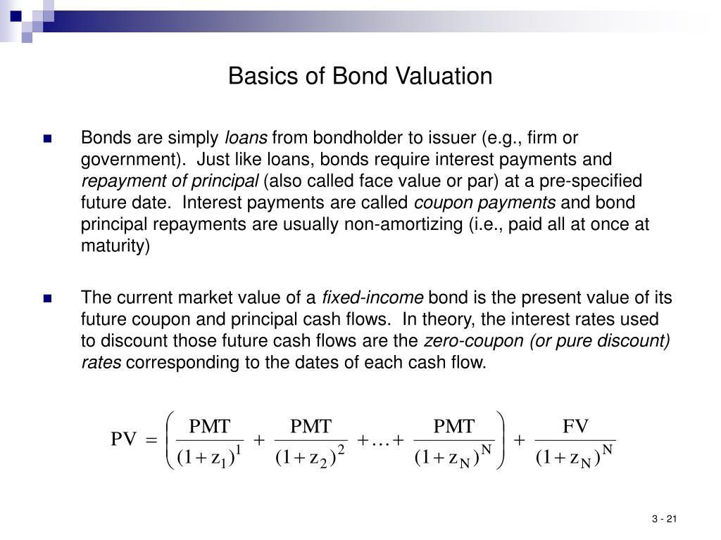 Basics of Bond Valuation