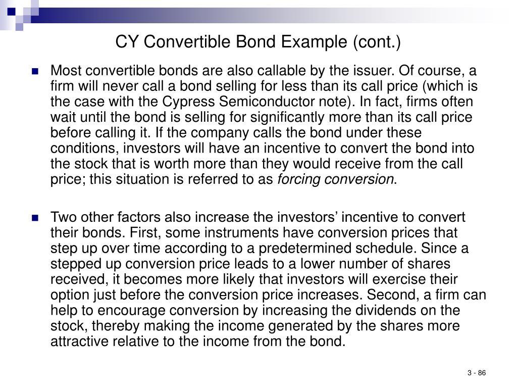 CY Convertible Bond Example (cont.)