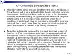 cy convertible bond example cont87