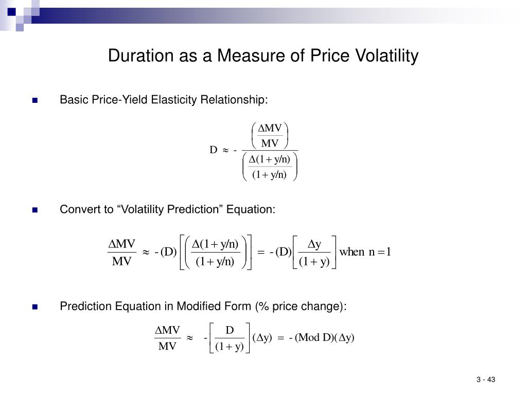 Duration as a Measure of Price Volatility