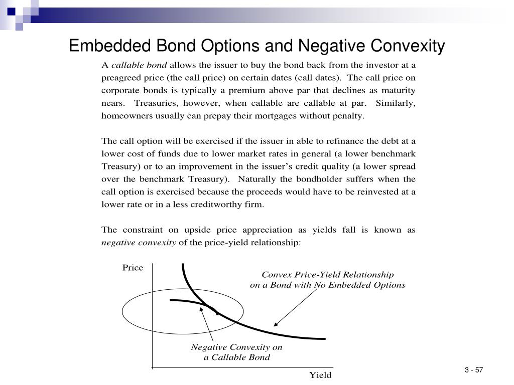 Embedded Bond Options and Negative Convexity