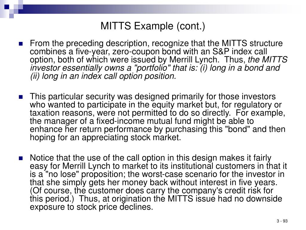 MITTS Example (cont.)