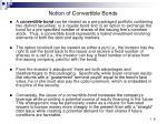 notion of convertible bonds